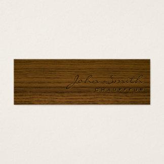 Mini cartão de visita de madeira escuro do