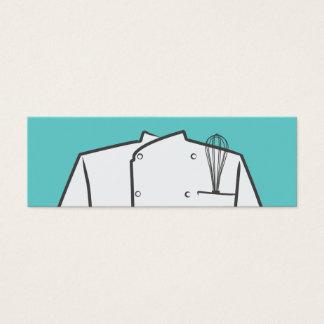 Mini cartão de visita do chefe de cozinha
