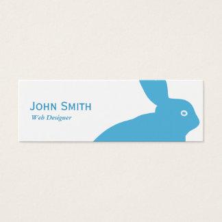 Mini cartão de visita do desenhista mínimo da Web