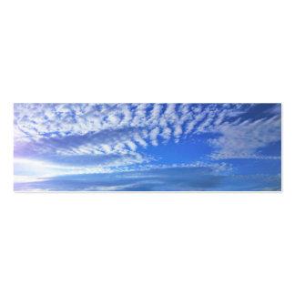 mini cartão de visita do marcador azul do céu