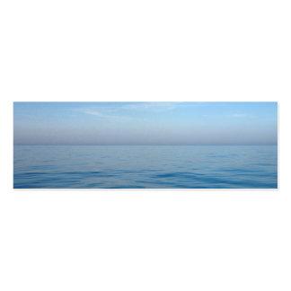 mini cartão de visita do marcador sereno azul da