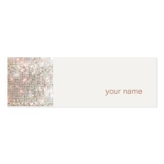 Mini cartão de visita moderno e anca do perfil