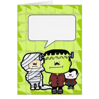 Mini cartão dos monstro