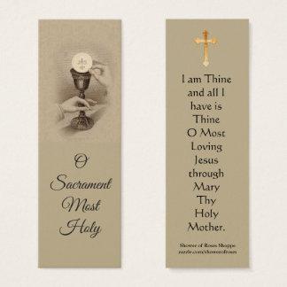Mini cartão santamente do Eucaristia abençoado do