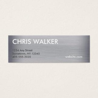 Mini cartões da textura Titanium do metal