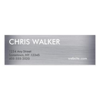 Mini cartões da textura Titanium do metal Cartão De Visita Skinny