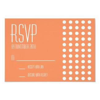 Mini cartões das bolinhas RSVP (alaranjados) Convite Personalizados