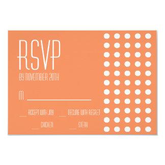 Mini cartões das bolinhas RSVP (alaranjados) Convite 8.89 X 12.7cm