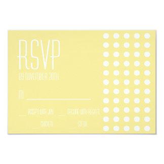 Mini cartões das bolinhas RSVP (amarelo) Convite 8.89 X 12.7cm