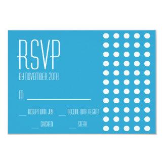 Mini cartões das bolinhas RSVP (azuis) Convite Personalizados