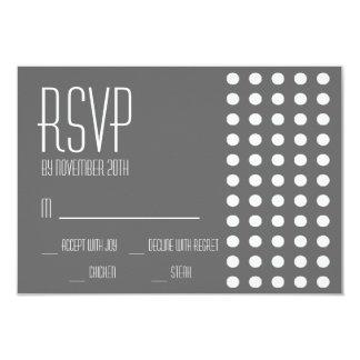 Mini cartões das bolinhas RSVP (obscuridade - Convites Personalizados