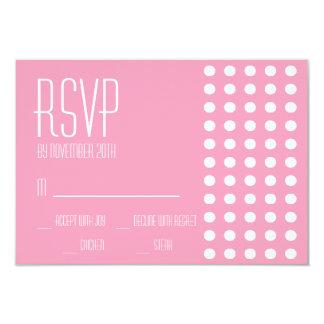 Mini cartões das bolinhas RSVP (rosa) Convite Personalizado