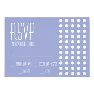 Mini cartões das bolinhas RSVP (roxos) Convite 8.89 X 12.7cm