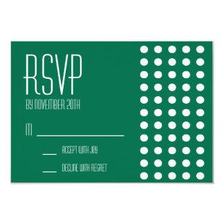 Mini cartões das bolinhas RSVP (verde) Convite