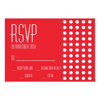 Mini cartões das bolinhas RSVP (vermelhos) Convite Personalizado
