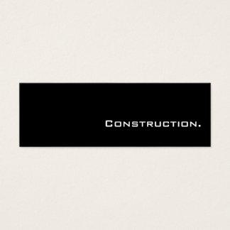Mini cartões de indústria da construção simples