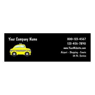 Mini cartões de visitas do táxi