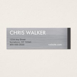 Mini cartões escovados da textura titanium de