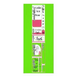 Mini cartões para o miúdo que inclui notas convite personalizado