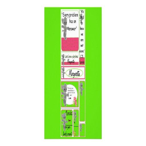 Mini cartões para o miúdo que inclui notas pequena convite personalizado