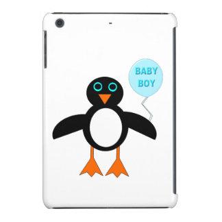 Mini caso do iPad azul bonito do pinguim do bebé Capa Para iPad Mini Retina