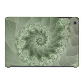 Mini caso do iPad espiral verde de seda do Fractal Capa Para iPad Mini Retina