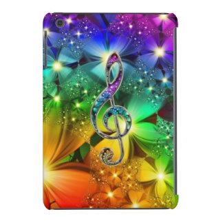 Mini caso do iPad psicadélico do Clef da música do Capa Para iPad Mini Retina