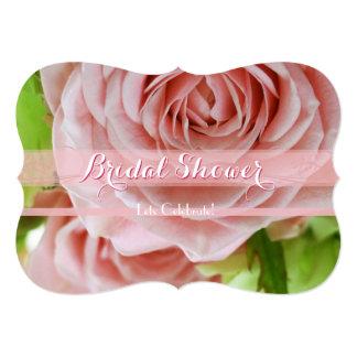 Mini chá de panela rosa pálido 1C dos rosas Convite 12.7 X 17.78cm