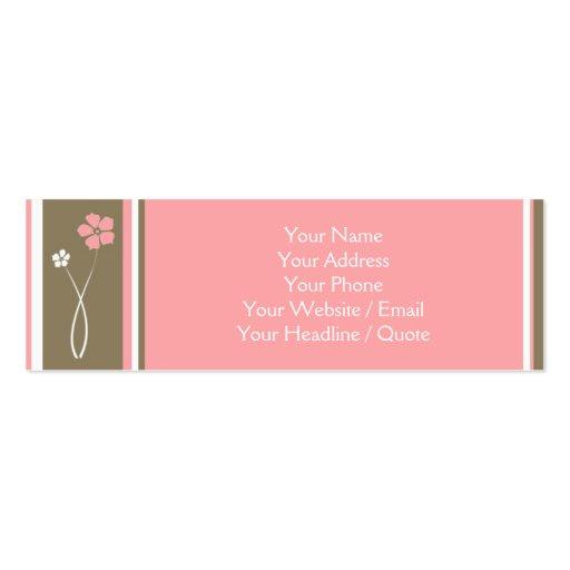 Mini chamada floral moderna magro/cartão de visita