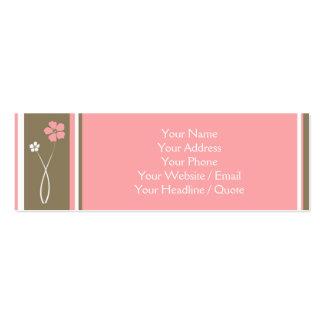 Mini chamada floral moderna magro/cartão de visita cartão de visita skinny