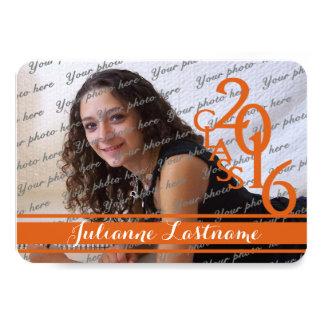 Mini classe da laranja 2016 da foto convite 8.89 x 12.7cm