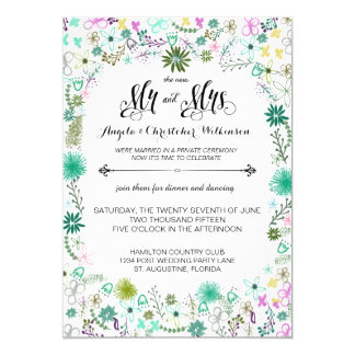 Mini convite de casamento do cargo da recepção das