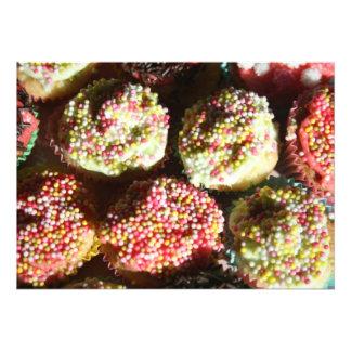 Mini convite dos cupcakes