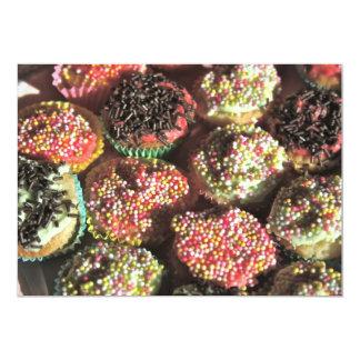 Mini convite dos cupcakes convite 12.7 x 17.78cm