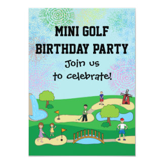 Mini convites de festas de aniversários do mini