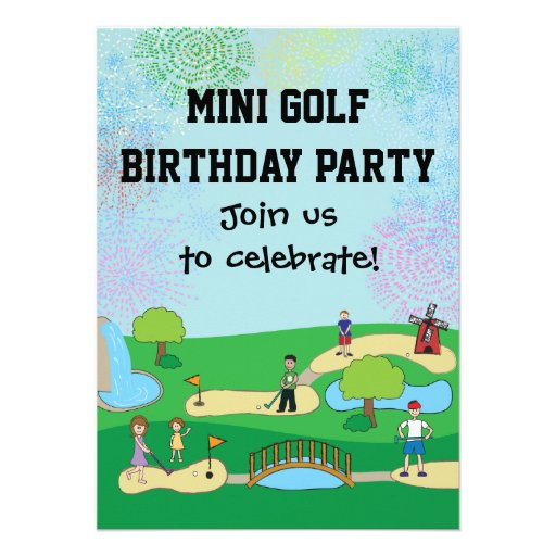 Mini convites de festas de aniversários do mini go