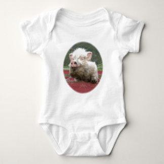 Mini Creeper canadense da criança do bebê do porco Camiseta
