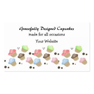 Mini design bonito do cupcake modelos cartão de visita