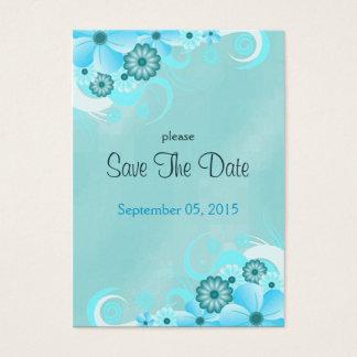 Mini economias do casamento floral azul escuro do cartão de visitas