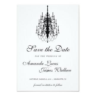 mini economias elegantes do candelabro a data convite 12.7 x 17.78cm