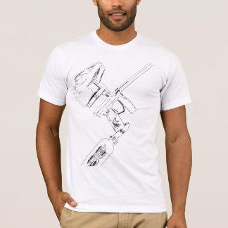 Mini esboço invertido camiseta