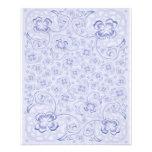 Mini floral azul Pastel de papel frente e verso Modelos De Panfleto