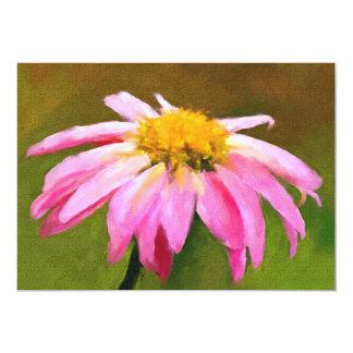 Mini impressões cor-de-rosa da margarida 5x7 convites personalizados