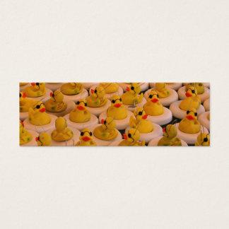 Mini marcador da foto de borracha legal de Duckies Cartão De Visitas Mini