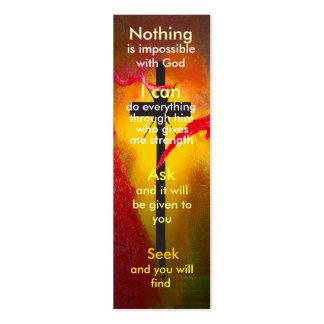 Mini marcador da oração modelos cartoes de visita