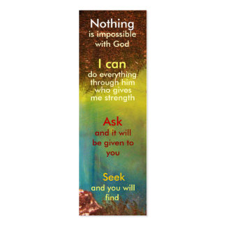 Mini marcador da oração modelos cartao de visita