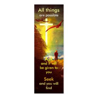 Mini marcador da oração cartão de visita
