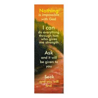 Mini marcador da oração cartao de visita