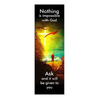 Mini marcador da oração cartões de visita