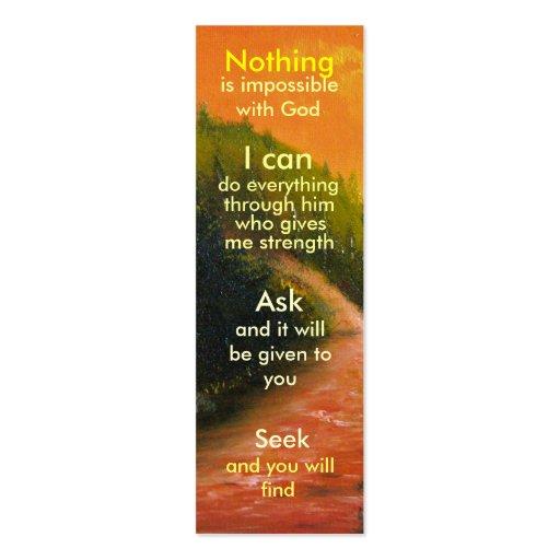 Mini marcador da oração modelos cartões de visitas